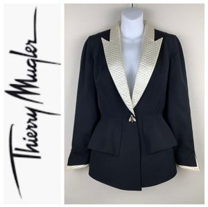 VTG Thierry Mugler Jeweled Bug Button Blazer sz 8